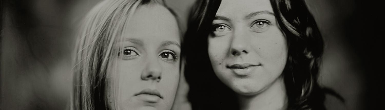 Detail van 30x30 cm Tintype portret