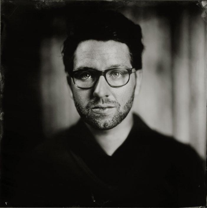 'Guido' 20x20 cm Tintype portret gemaakt met het wetplate collodium procedé