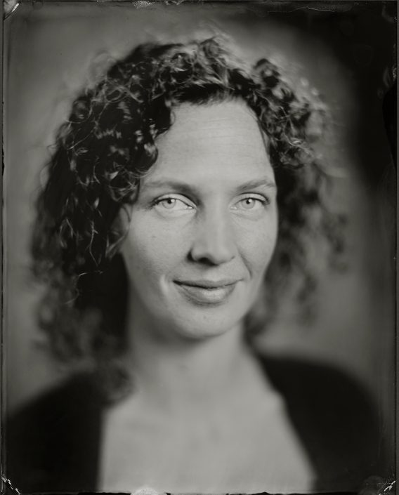 'Danse' 24x30 cm Tintype portret gemaakt met het wetplate collodium procedé
