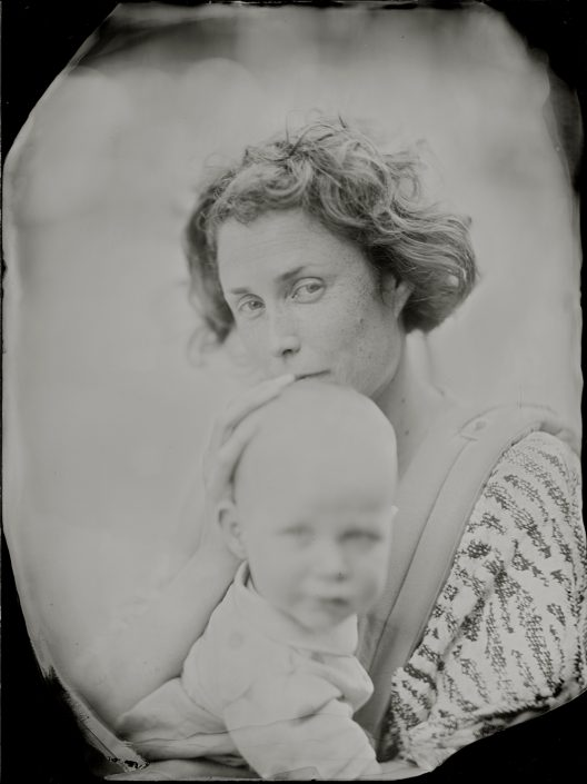 18x24 cm Tintype portret tijdens ArtZaanstad gemaakt met het wetplate collodium procedé