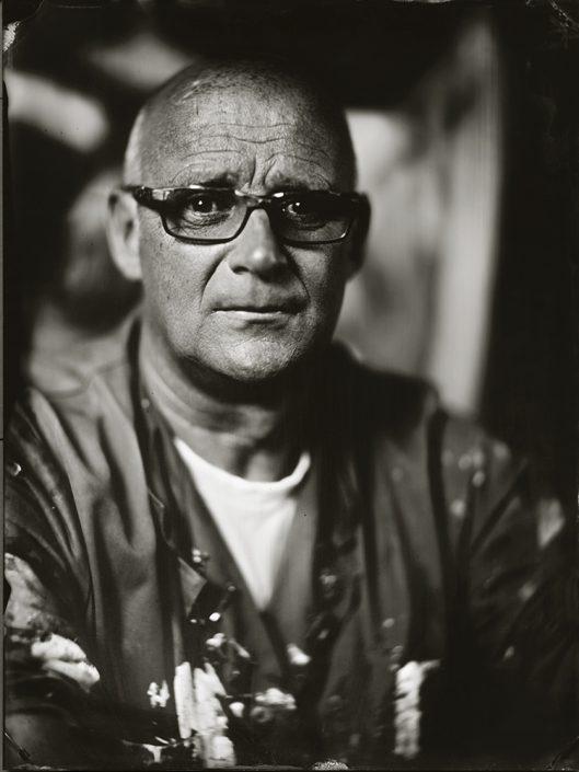 Rob van Trier Artpainter 18x24 cm Tintype gemaakt met het wetplate collodium procedé