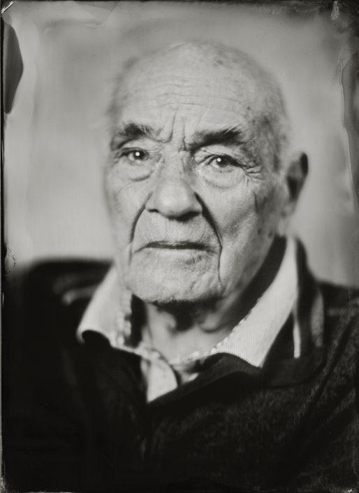 Frans Spierings op 100 jarige leeftijd gemaakt met het wetplate collodium procedé