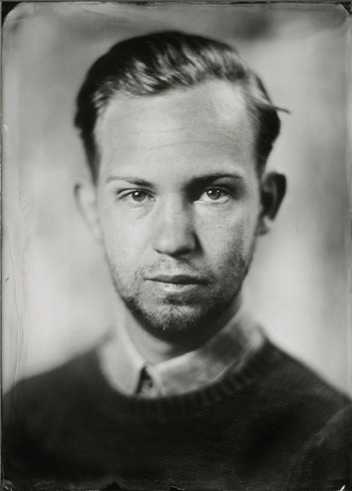 'Karl' 13x18 cm Tintype portret gemaakt met het wetplate collodium procedé