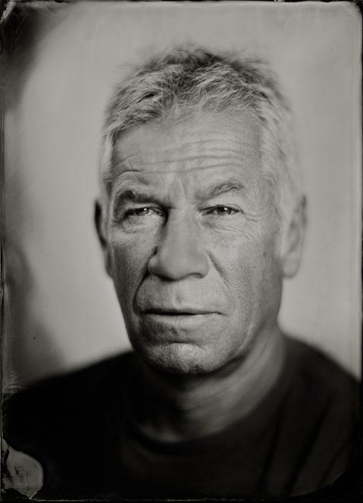 18x24 cm Tintype portret gemaakt met het wetplate collodium procedé