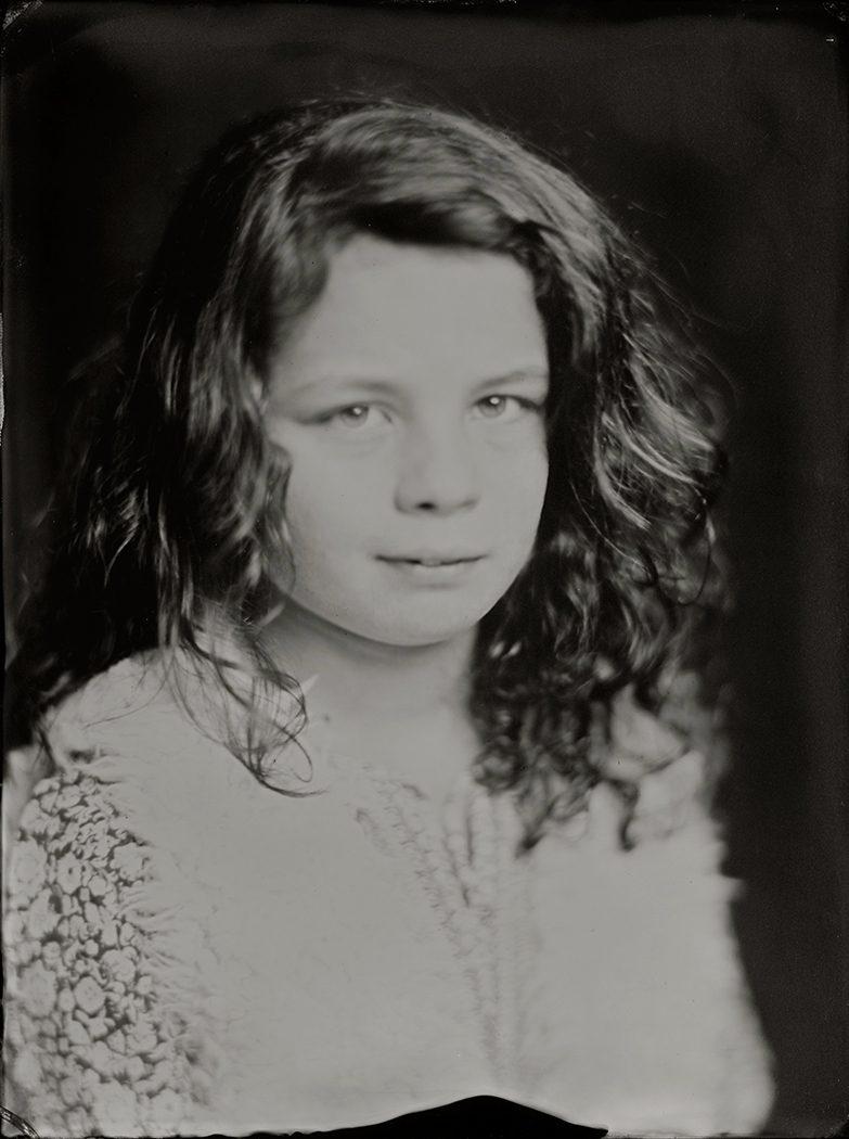 'Ike' 15x20 cm Tintype portret gemaakt met het wetplate collodium procedé