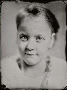 'Robin' 18x24 cm Tintype portret