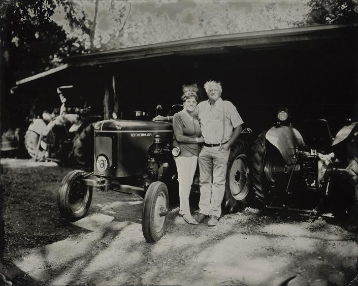 24x30 cm tintype familie portret op locatie