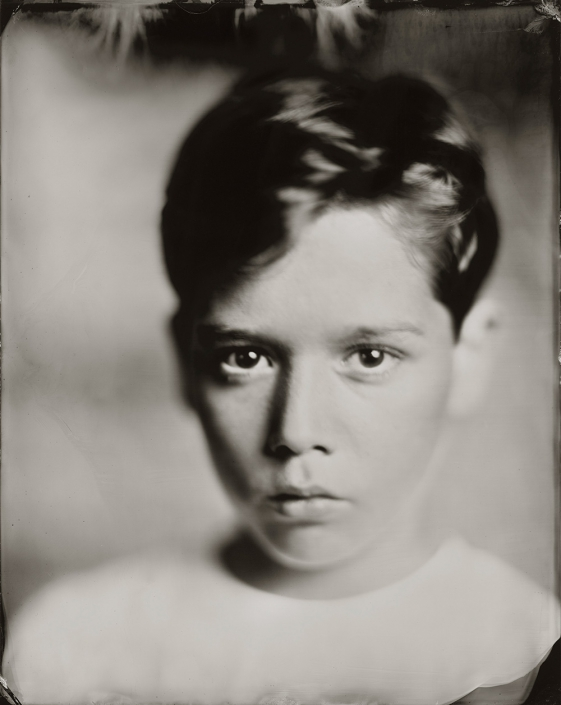 'Mees' 24x30 cm tintype portret