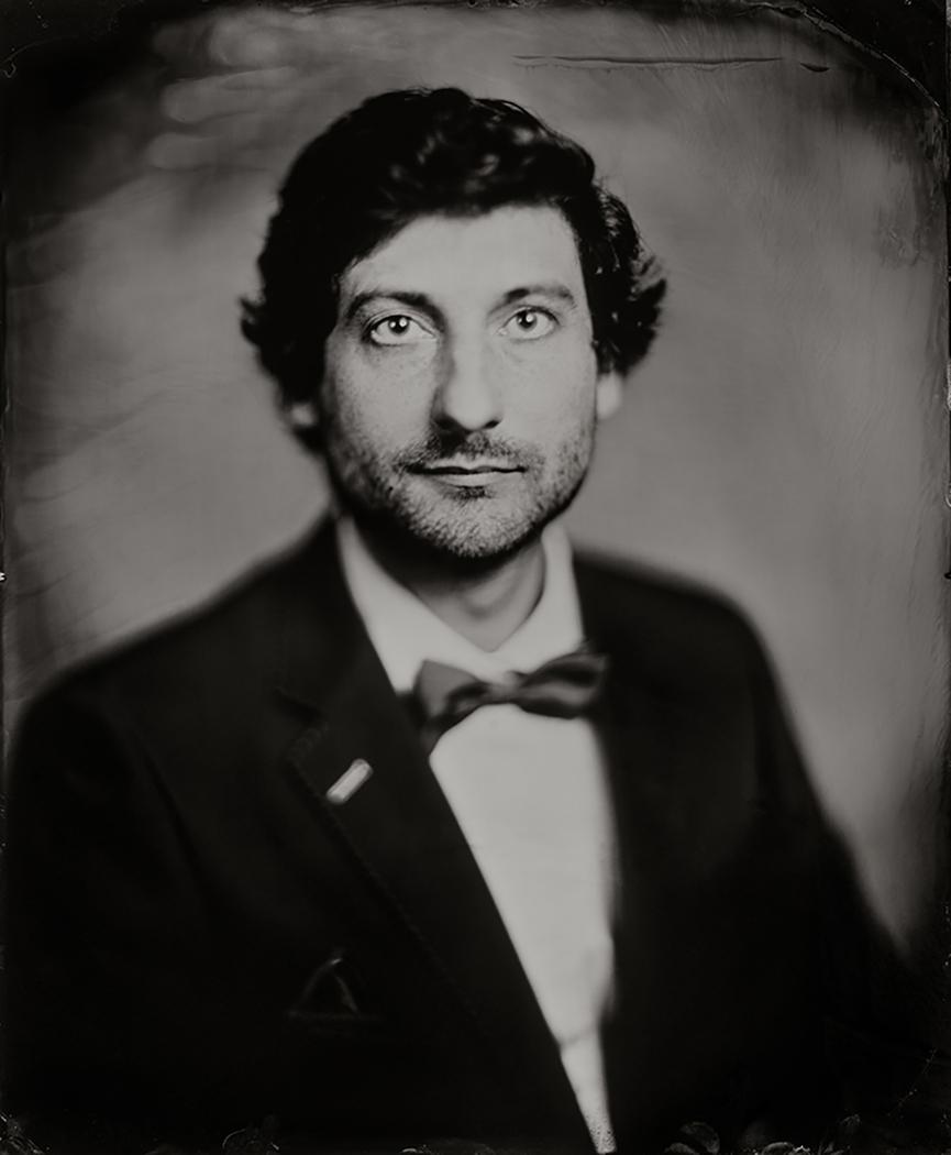 'Sander' Scan van 35x43 cm Tintype portret