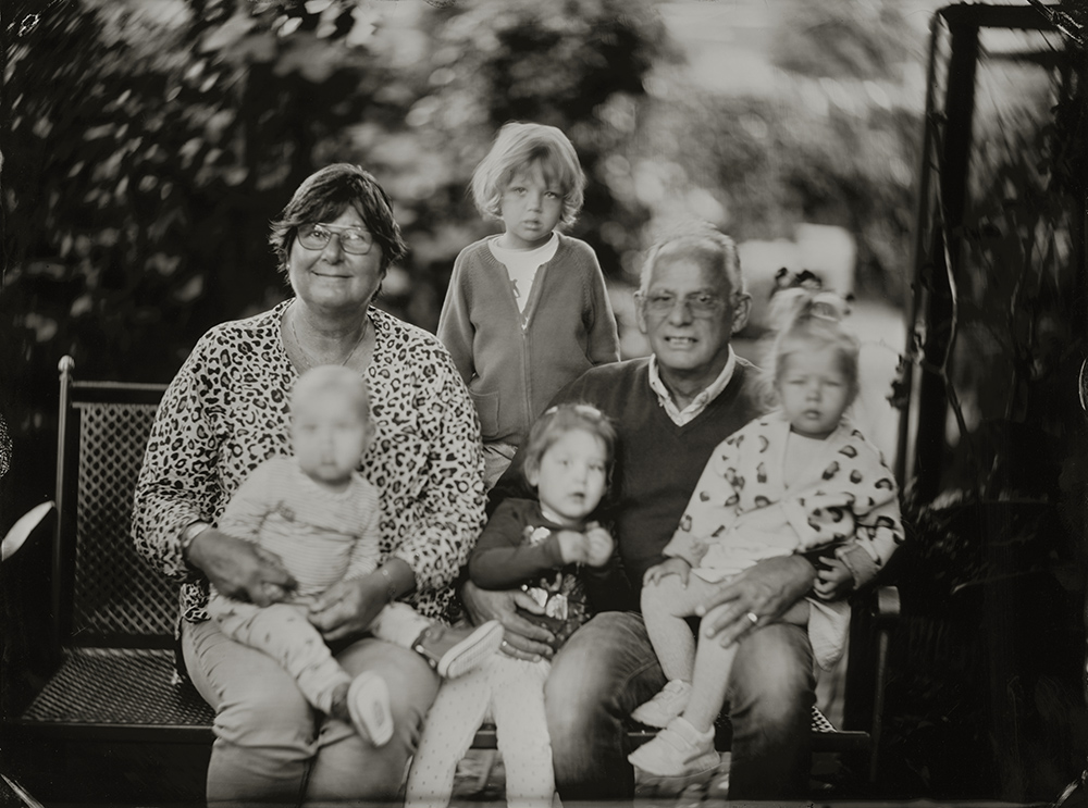 18x24 cm Wetplate Tintype portret van Josje voor haar 50ste verjaardag
