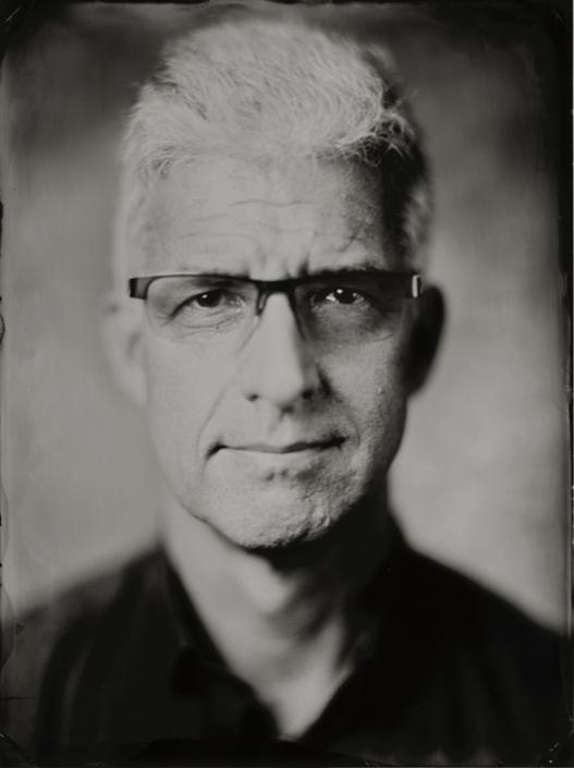 18x24 cm wetplate tintype portret