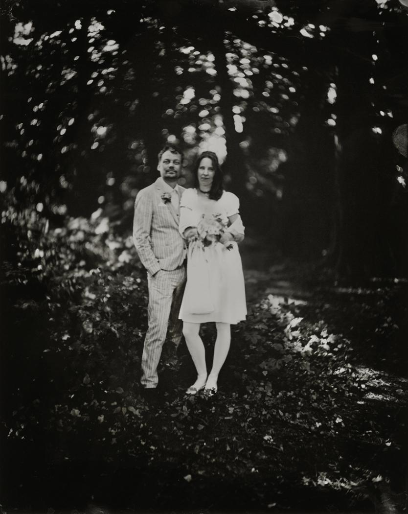 Wetplate Huwelijksportret Linda & Bram